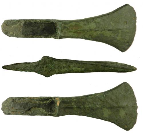 Date: ?Type: Bronze Palstave AxeheadFound by: Colin Peers