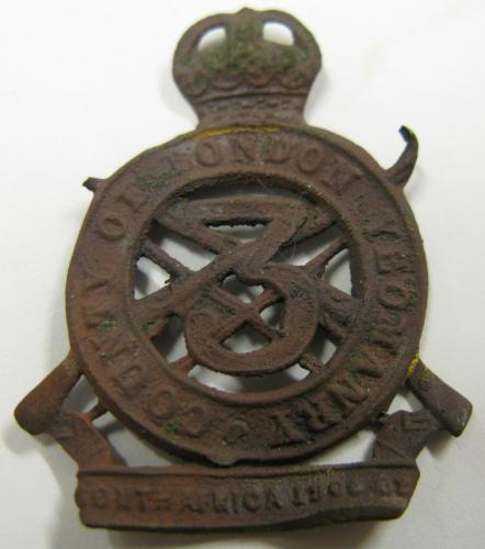 Date: ?Type: County of London Yeomanry Cap BadgeFound by: ?