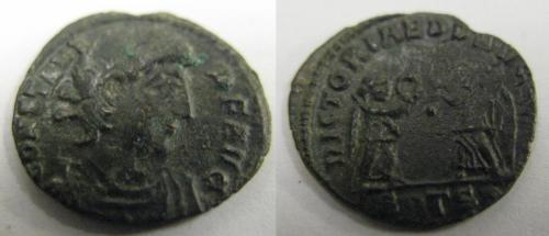 Date: 336 - 337Emperor: ConstansType: Mintmark SMTSA. RIC VIII Thessalonica 100Found by: ?