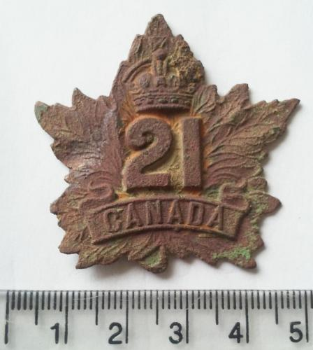 Date: ?Type: WW2 Canadian Cap BadgeFound by: ?
